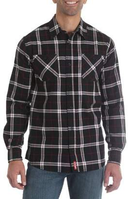 Wrangler Big Men's Long Sleeve Wicking Flannel Shirt