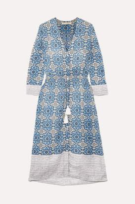 Vanessa Bruno Ilko Floral-print Voile Midi Dress - Blue