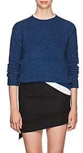 Helmut Lang Women's Brushed Wool-Blend Crewneck Sweater - Blue