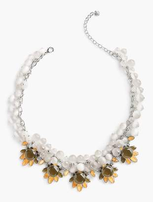 Talbots Mixed-Bead & Crystal Drop Necklace
