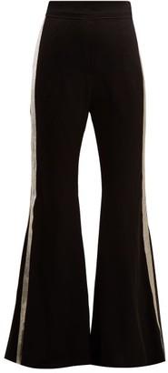 Ellery Lovedolls Wide Leg Satin Trousers - Womens - Black