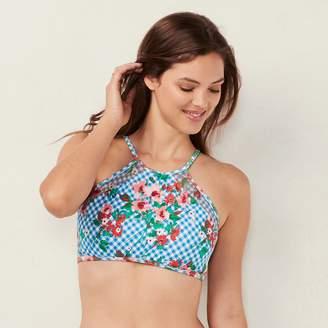 Lauren Conrad Women's Beach Shop High-Neck Bikini Top