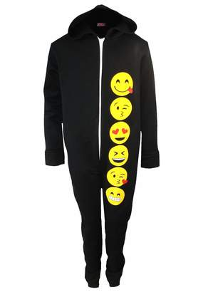 Generic Girls Emoji Onesie New Kids Smiley Face Emoticons All in One Pajama 7-14 Years