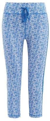 The Upside Nyc China Print Cropped Performance Leggings - Womens - Blue Print