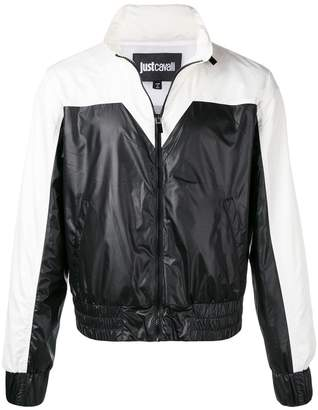 Just Cavalli contrast bomber jacket