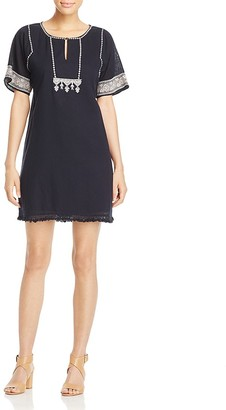Lilla P Embroidered Shift Dress $188 thestylecure.com