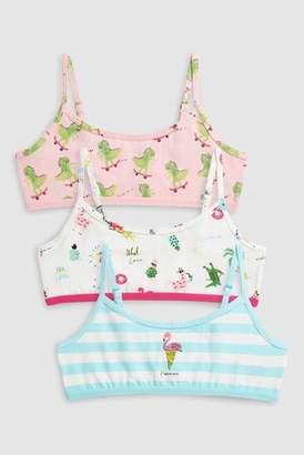 Next Girls Pink/Turquoise Flamingo Crop Tops Three Pack (Older)