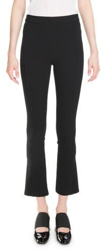 Givenchy Givenchy Cropped Boot-Cut Leggings, Black