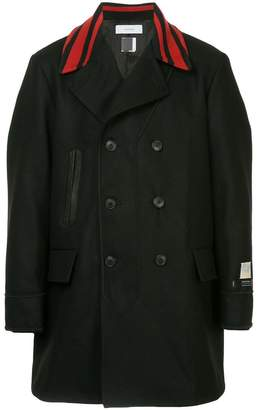 Facetasm x Woolmark striped collar coat