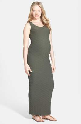 Tees by Tina 'Lattice' Maxi Maternity Dress