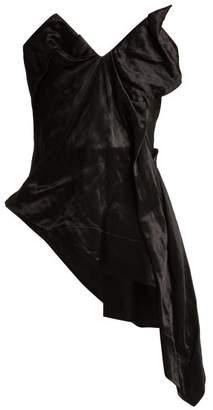 Vivienne Westwood Asymmetric Satin Corset - Womens - Black
