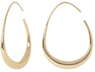 Banana Republic Tapered Metal Teardrop Hoop Earrings
