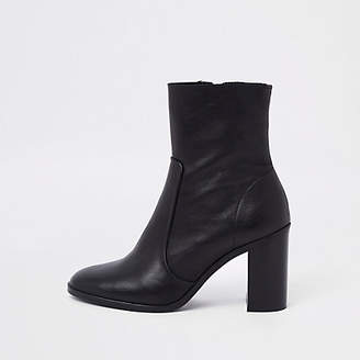 River Island Black leather ankle boots