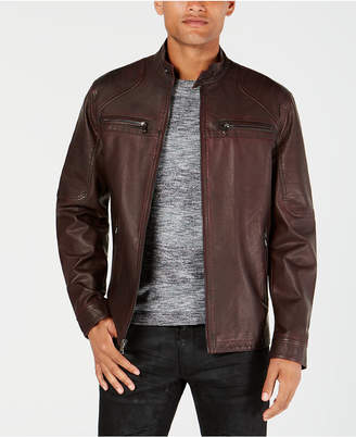 INC International Concepts I.n.c. Men Washed Moto Jacket