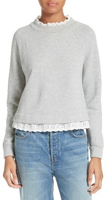 Women's La Vie Rebecca Taylor French Terry Pullover $195 thestylecure.com