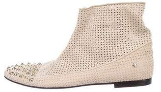 Cesare Paciotti Spike-Embellished Ankle Boots