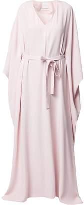 Ingie Paris tie front cape gown