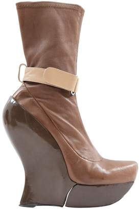 Celine Grey Patent leather Boots