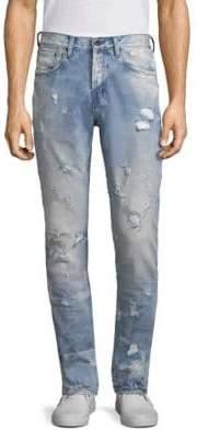 PRPS Le Sabre Distressed Slim Jeans