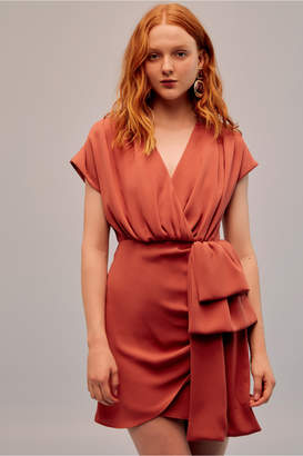 Keepsake MOTOR MINI DRESS burnt orange