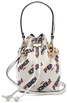 802e7e823b Fendi Mania Mon Tresor Mini Leather Bucket Bag - Womens - White Multi