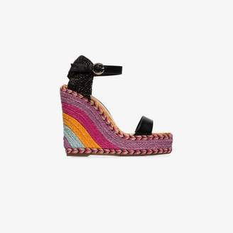 Sophia Webster multicoloured lucita 140 wedge sandals