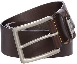 HUGO BOSS Jackson Logo Buckle Leather Belt