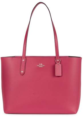 Coach Raspberry Grained Leather Tote
