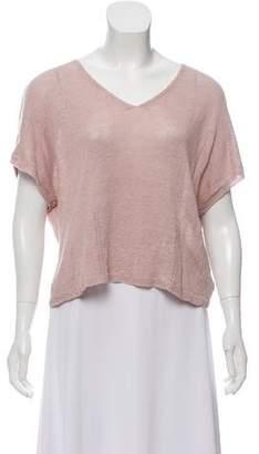 Demy Lee Linen Short Sleeve Sweater