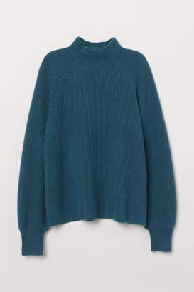 H&M Rib-knit Cashmere Sweater - Green