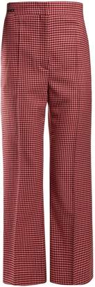 Fendi Checked wool trousers