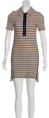 Veronica Beard Striped Knit Mini Dress