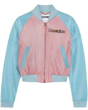 Moschino + My Little Pony Appliqued Lurex Bomber Jacket