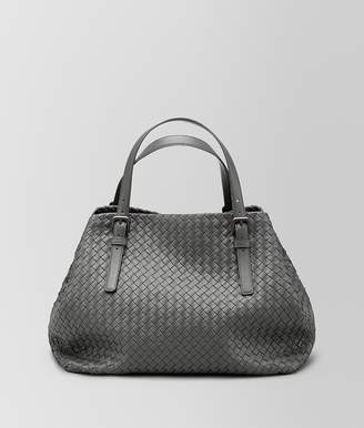 Bottega Veneta LIGHT GREY INTRECCIATO NAPPA LARGE CESTA BAG