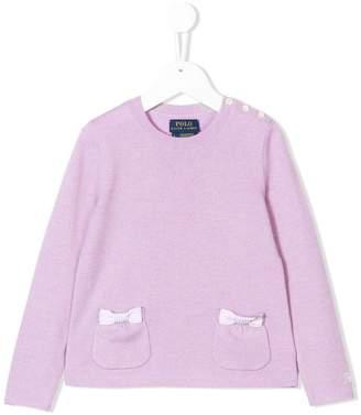 Ralph Lauren Kids bow-embellished sweater