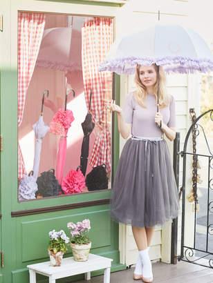 Maison de Fleur (メゾン ド フルール) - Maison de FLEUR 晴雨兼用ヒートカットフリル長傘