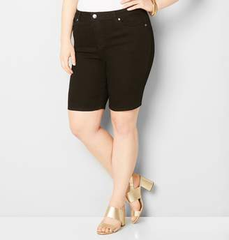 Avenue Denim Bermuda Short in Black