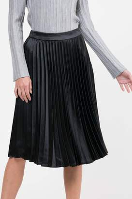 Lucy Paris Pleated Satin Skirt