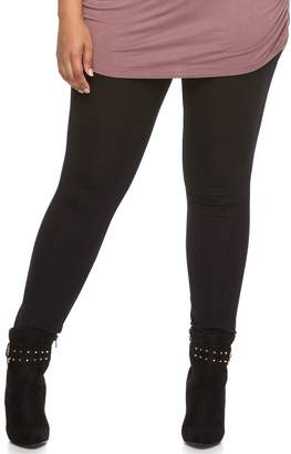 JLO by Jennifer Lopez Plus Size High Waisted Ponte Leggings