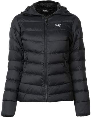 Arc'teryx quilted hooded jacket