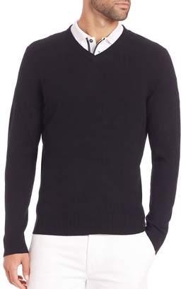 AG Jeans Men's Arbor Merino Wool V-Neck Sweater