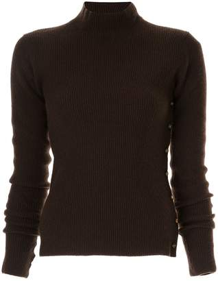 Chanel Pre-Owned cashmere ribbed knit top
