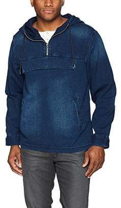 GUESS Men's Denim Anorak Pullover