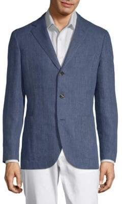 Caruso Notch Lapel Chambray Jacket