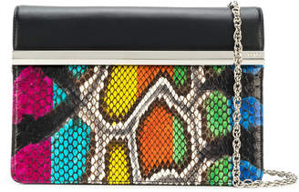 Rodo snake-effect clutch bag