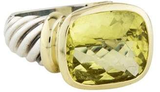 David Yurman Lemon Citrine Large Noblesse Ring