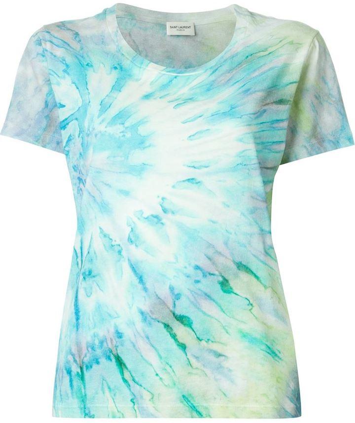 Saint LaurentSaint Laurent tie dye print T-shirt