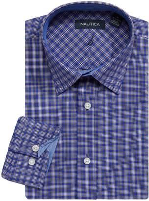 Nautica Long-Sleeve Check Dress Shirt
