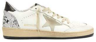 Golden Goose Ballstar Low Top Leather Trainers - Womens - White Black