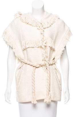 Isabel Marant Fringe-Trimmed Hooded Vest